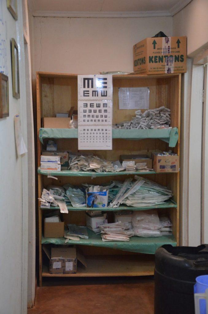 Prostor, kjer smo pacientom določili okvirno dioptrijo